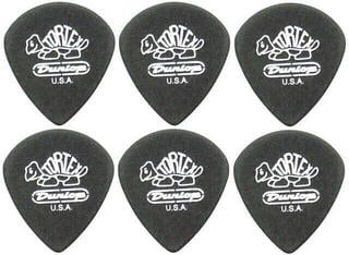 Dunlop 482R 0.73 Tortex Black Gold Jazz Sharp 6 Pack