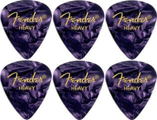 Fender 351 Shape Premium Pick Heavy Purple Moto 6 Pack