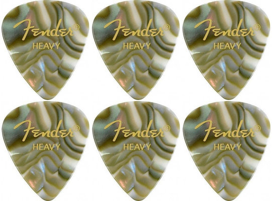 Fender 351 Shape Premium Pick Heavy Abalone 6 Pack