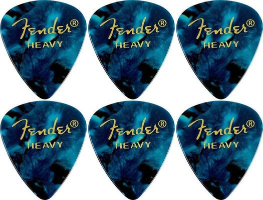 Fender 351 Shape Premium Pick Heavy Ocean Turquoise 6 Pack