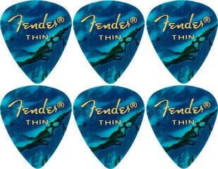 Fender 351 Shape Premium Pick Thin Ocean Turquoise 6 Pack
