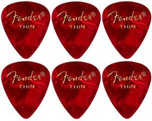 Fender 351 Shape Premium Pick Thin Red Moto 6 Pack