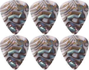 Fender 351 Shape Premium Pick Medium Abalone 6 Pack