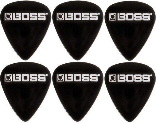 Boss BPK-72-BT Celluloid Pick Thin Black 6 Pack
