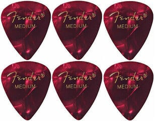 Fender 351 Shape Premium Pick Medium Red Moto 6 Pack