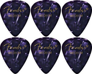 Fender 351 Shape Premium Pick Medium Purple Moto 6 Pack