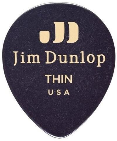 Dunlop 485R-03TH Celluloid Teardrop Black Thin