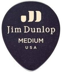 Dunlop 485R-03MD Celluloid Teardrop Black Medium
