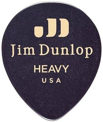 Dunlop 485R-03HV Celluloid Teardrop Black Heavy