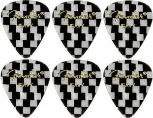 Fender 351 Shape Premium Pick Checker Heavy 6 Pack
