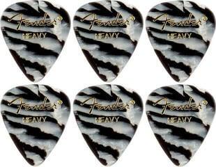 Fender 351 Shape Premium Pick Zebra Heavy 6 Pack