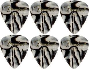 Fender 351 Shape Premium Pick Zebra Thin 6 Pack