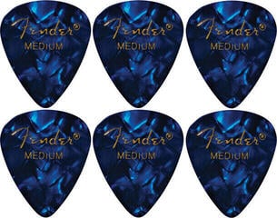 Fender 351 Shape Blue Moto Medium 6 Pack
