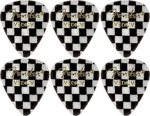 Fender 351 Shape Premium Pick Checker Medium 6 Pack