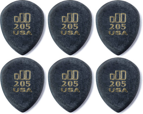 Dunlop 477R 205 Jazz Tone Pointed Tip 6 Pack