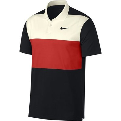 Nike Dri-FIT Vapor Colourblock Herren Poloshirt Sail/Habanero Red XL