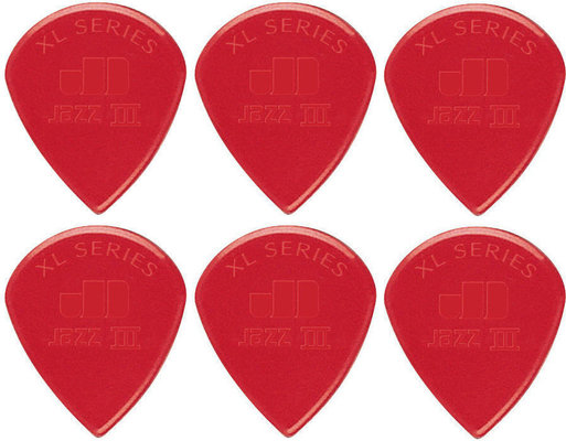 Dunlop 47R XL R Jazz III XL Red Nylon 6 Pack