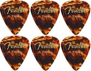 Fender 351 Shape Classic Thin Tortoise Shell 6 Pack