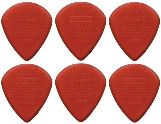 Dunlop 471R 3 N Nylon Max Grip Jazz III 6 Pack