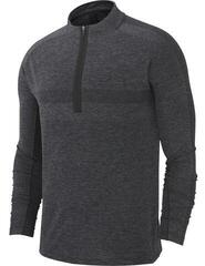Nike Dry Knit Statement 1/2 Zip Mens Sweater Black/Dark Grey