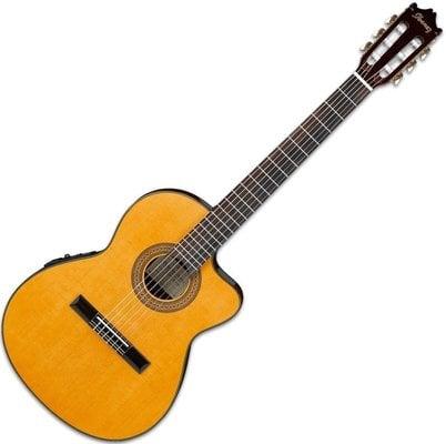 Ibanez GA5TCE Thinline Cutaway Classic Guitar Amber High Gloss