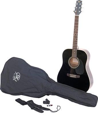 SX SA1 Acoustic Guitar Kit Black