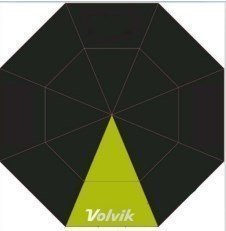 Volvik Umbrella Black/Lime