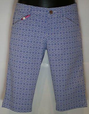 Alberto Mona-K Waterrepellent Womens Shorts Blue/White 38