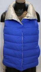 Ralph Lauren Reversible Down Womens Vest Blue/Silver S
