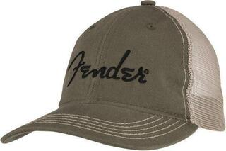 Fender Embroidered Logo Soft Mesh Snapback Sand