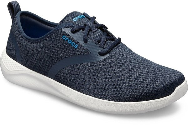 Crocs Men's LiteRide Mesh Lace Navy/White 8