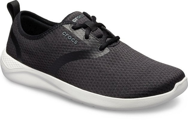 Crocs Men's LiteRide Mesh Lace Black/White 9