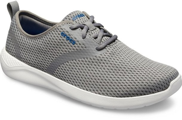 Crocs Men's LiteRide Mesh Lace Smoke/White 10