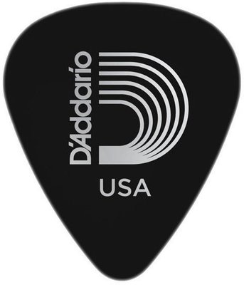 D'Addario 1CBK2 Black Celluloid Guitar Pick Light