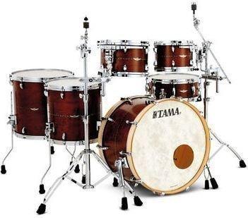Tama Star Maple Drum Set Satin Antique Brown