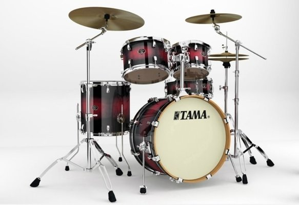 Tama VP50RS Silverstar Custom Transparent Red Burst