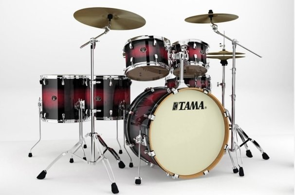 Tama VP62RS Silverstar Custom Transparent Red Burst