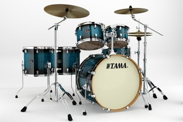 Tama VP62RS Silverstar Custom Transparent Blue Burst