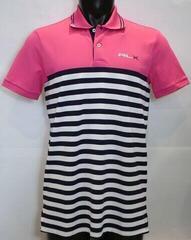 Ralph Lauren Light Weight Tech Pique Férfi Golfpóló Pink/Navy M