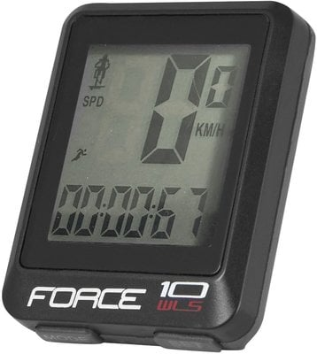 Force WLS Bike Computer 10 Functions Wireless Black