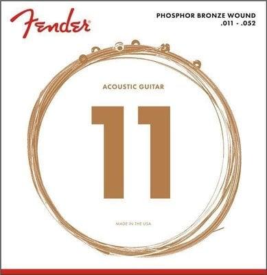Fender Phosphor Bronze Acoustic Guitar Strings 11-50