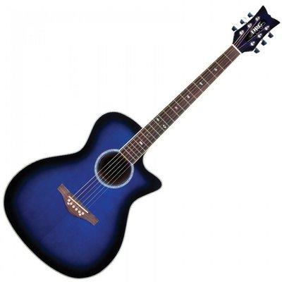 Daisy Rock Wildwood Artist Electro Acoustic Royal Blue Burst