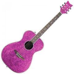 Daisy Rock Pixie Acoustic Pink Sparkle