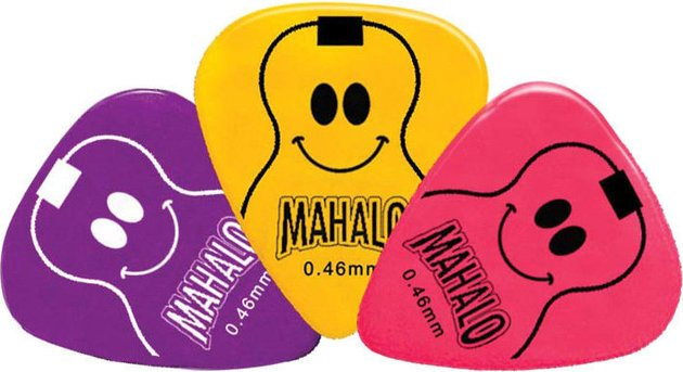 Mahalo Smiley Picks Yellow/Red/Purple