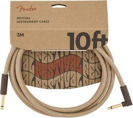 Fender Festival Series Instrument Cable Natural/Opletený-Rovný - Lomený