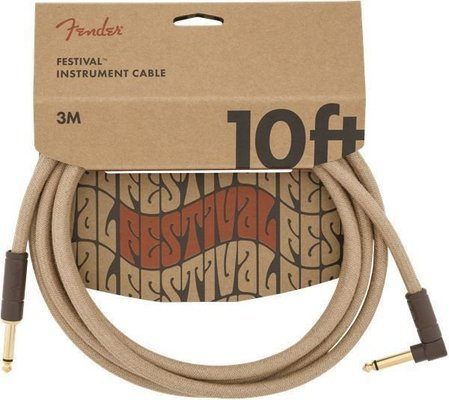 Fender Festival Series 10' Angled Cable Pure Hemp Natural