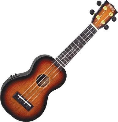 Mahalo Electric-Acoustic Soprano Ukulele 3 Tone Sunburst