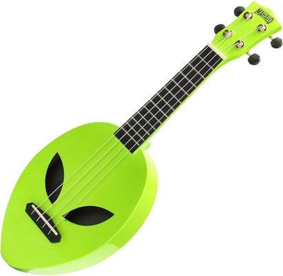 Mahalo Soprano Ukulele Alien Glow Green
