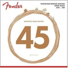 Fender Phosphor Bronze Bass Guitar Strings, Light 45-100