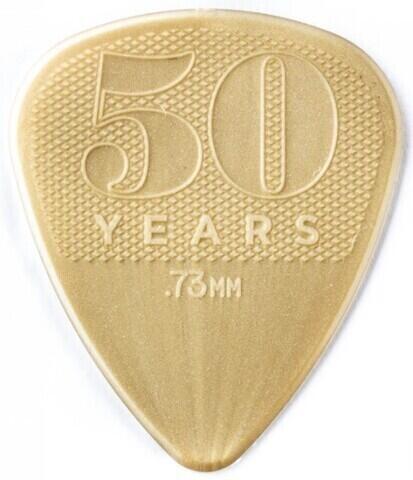 Dunlop 442R73 50th Anniversary Gold Nylon Pick, 0.73